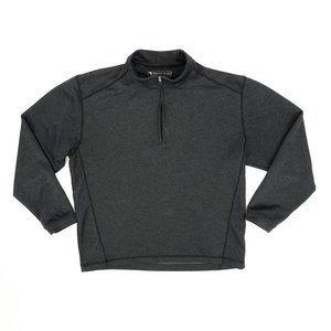 Pebble Beach Pullover Jacket Golf Quarter Zip Gray